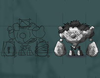 Game Character and Props Concept Assets