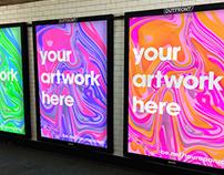 Free NYC Subway Ad Mockup .PSDs