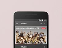 Netflix Material Design Concept
