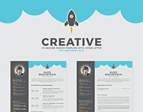 Free Creative CV-Resume Design Template & Cover Letter