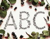 FLORAL STAMP TYPOGRAPHY
