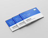 Free perfect binding landscape brochure mockup