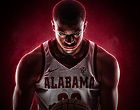2017-18 Alabama Men's Basketball National Game Mailers