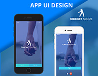 Cricket Score App Ui Design