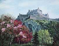Edinburgh Castle. May. Edinburgh, Scotland