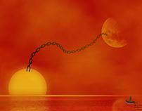 Le soleil plus la Lune plus la Mer égale la vie