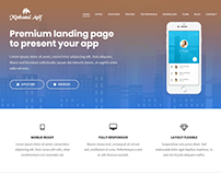 App Landing Website By Minhazul Asif
