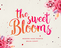 The Sweet Blooms (Modern Handpainted Script)
