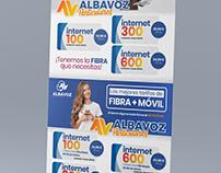 Lona promoción Fibra Albavoz