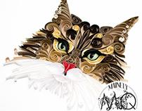 Scrollwork Coon Cat Portrait
