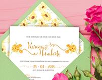 Convite, monograma e pattern