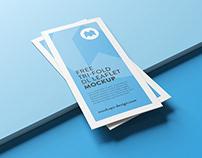 Free DL trifold leaflet mockup
