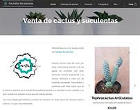 Diseño web para Cactalia Suculentas