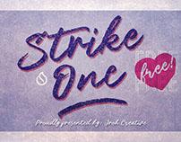 Strike One Free Font