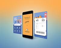 Free Nokia 5 Smartphone App Screen Mockup PSD