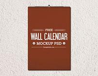 Free Wall Calendar Mockup Psd Templates