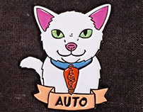 "CREATURE COMFORTS ""Auto enamel pin"""