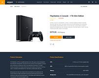 Amazon Product Page Web UI UX Design