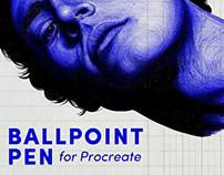Free Ballpoint Pen Brush Procreate