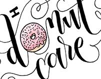 Handlettered Donut Mug Process