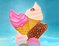 just another ice-cream illustration for hungry eyes