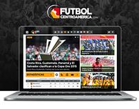 FutbolCentroamérica - Diseño LOGO/UI/WEB/MOBILE