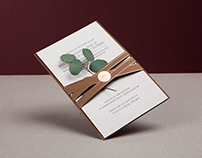 Wedding Invitation - 'Olive Tree'