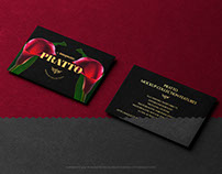 Two Black Horizontal  Business Cards PSD Mockup