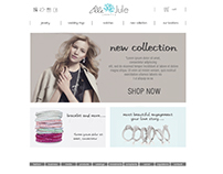 jewelery shop - website layout