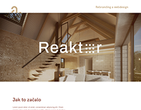 Reaktor architecture studio - webdesign