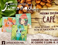 Anuncio para la revista Limonada - café
