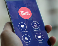 Hellog Health Monitoring Android App UI/UX Design