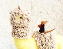 yellow alpaca - toy design