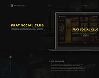 Дизайн сайта для FRAT Social Club