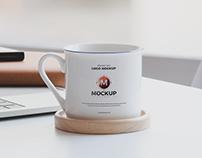 Free Ceramic Mug Logo Mockup
