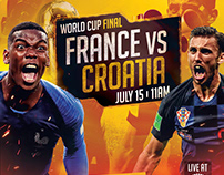 FIFA WORLD CUP FINAL (RUSSIA 2018) Social Media Designs