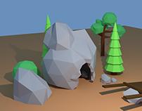 Blender 09- cave Island