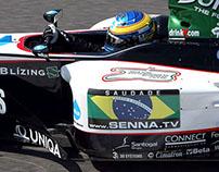 Minardi F1 - Ayrton Senna Tribute Sticker