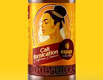 Diseño etiquetas Californication. Cervecería Espiga