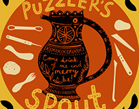 Puzzler's Spout Beer Label
