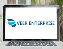 Veer Enterprise Logo Design