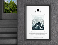 Industrial PSD Poster Mockup Free