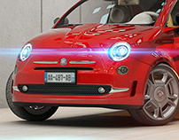 My first attempt in Maya (Fiat 500)