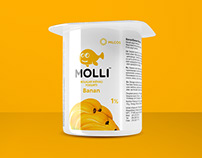 Molli. Creating brand for yogurt