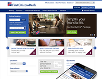 First Citizens Bank Responsive Website