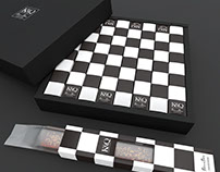 K&Q - Chess Stick Cake Packaging