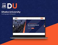 Dhaka University landing page (Redesigned)