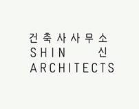 Logo and application design for 'SHIN architects'