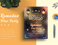 Ramadan Iftar Party Flyer Title Design