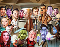 Star Wars Cantina themed Caricatures for Law Firm